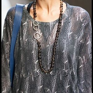 Isabel Marant for H&M Feather Print Linen Top